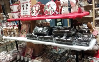 Décorations de Noël et gâteaux alsaciens à Sarlat et aux Eyzies